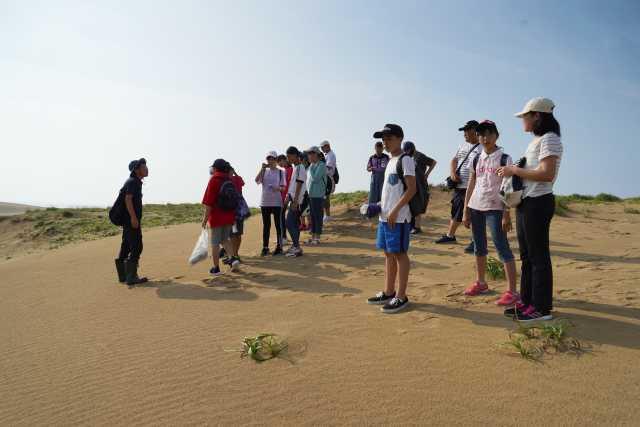 鳥取砂丘でフィールドワーク
